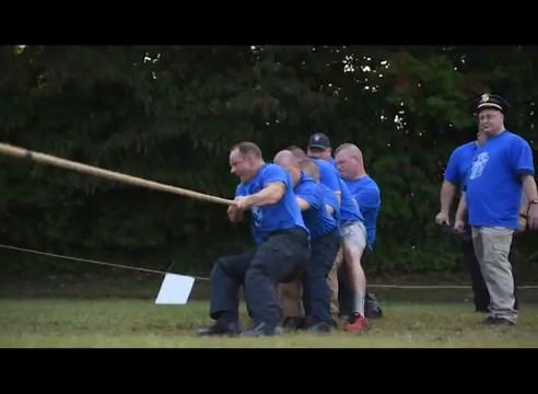 The United Way of Muskingum, Perry and Morgan counties kicked off it's annual fund raising campaign with a tug-of-war between the Zanesville Police Department and Fire Departments.