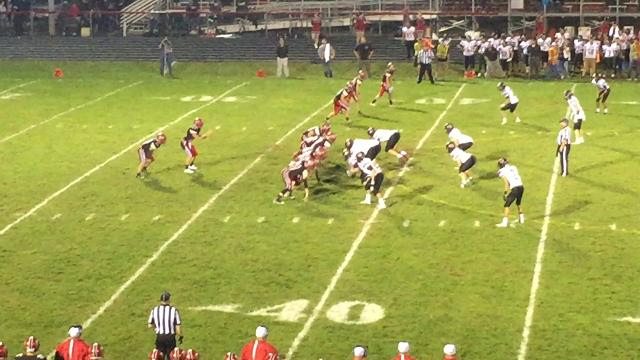 Jared Porter with a nice run in Fairfield Union's 35-0 win over Circleville.