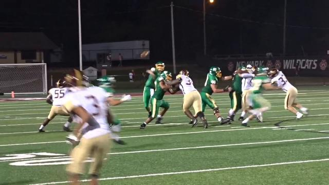 Evans makes impact plays for Newark Catholic