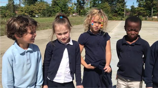 Lynette Patterson's first grade class watched as their caterpillars transformed into butterflies. The kids released the butterflies Thursday and then spoke with the News Journal about the project.