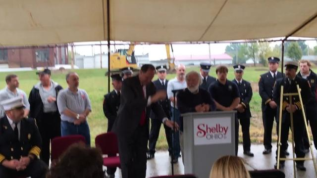 Grant Milliron, a local businessman from Shelby and a philanthropist throughout Richland County, is building a new fire station for Shelby.
