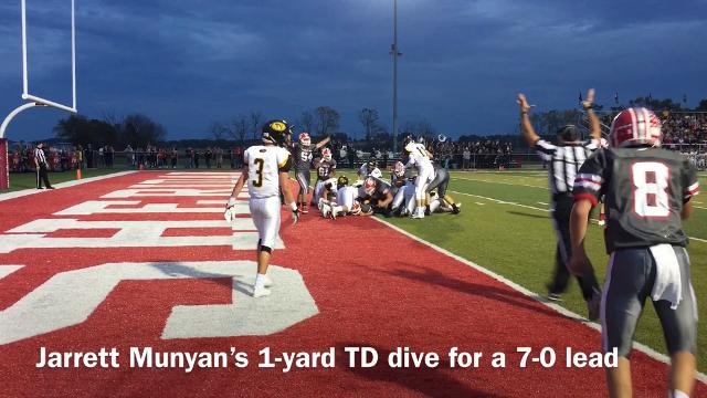 Tri-Valley rallies for a 24-14 win over Sheridan.