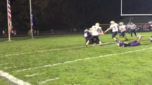 Lancaster's Shea Goss scores second TD of the game in Gales' 14-13 loss to Pickerington Central.