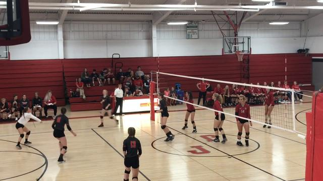 Grace Slader led a balanced attack in Johnstown's sweep of Fredericktown in a Division III second-round match.