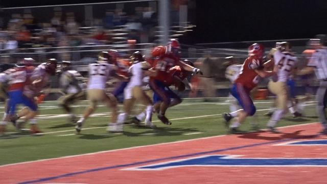 Lewis helps Licking Valley pull into halftime tie
