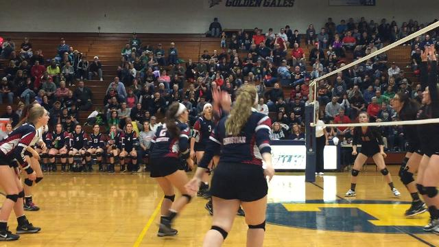 Fairfield Christian volleyball team defeated Monroe Central in Division IV regional semifinal on Wednesday.