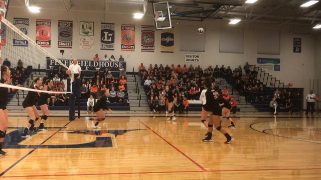Pleasant volleyball regional highlights
