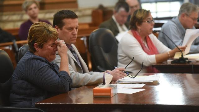 Laura Vanscoy Andrews, former fiscal officer for the Village of Alexandira, was sentenced to four years in prison Monday after being found guilty of stealing more than $167,000 from the village.