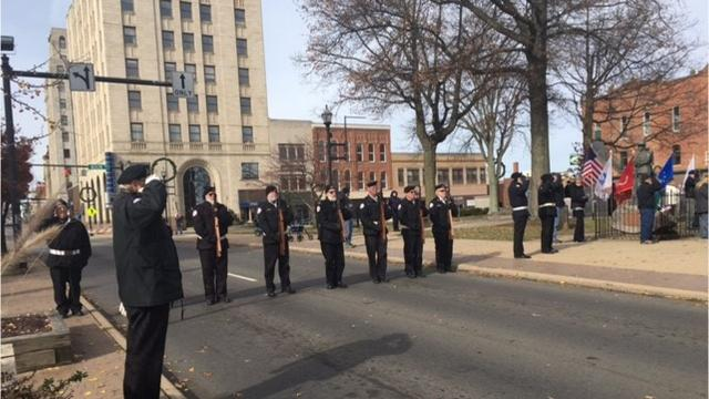 The Veterans Day Parade in downtown Mansfield on Nov. 11, 2017 was a great day for honoring veterans with the many area veterans groups in the parade along Park Avenue West.