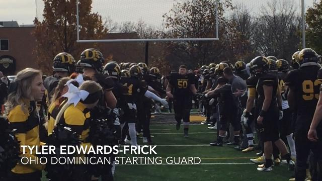 Tri-Valley product Tyler Edwards-Frick, a starting guard, helped Ohio Dominican win G-MAC title Saturday