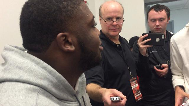 OSU tackle Jamarco Jones on an emotional Senior Day
