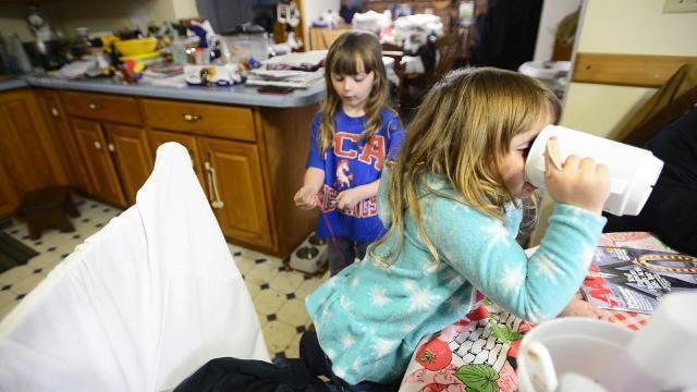 A family together, surviving the tornado