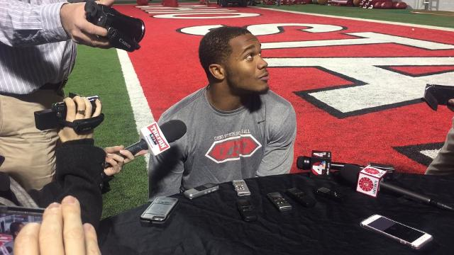 OSU true freshman J.K. Dobbins on transition to college game and why he's not surprised Wisconsin's Jonathan Taylor and he ranked 1-2 in Big Ten rushing