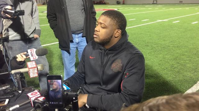OSU tackle Jamarco Jones on moving on from Michigan and the physicality of Wisconsin