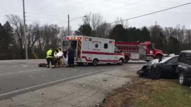 Two people were injured Tuesday afternoon in a two-vehicle crash at Mansfield-Lucas Road and Illinois Avenue. The Mansfield post of the Highway Patrol in handling the crash.