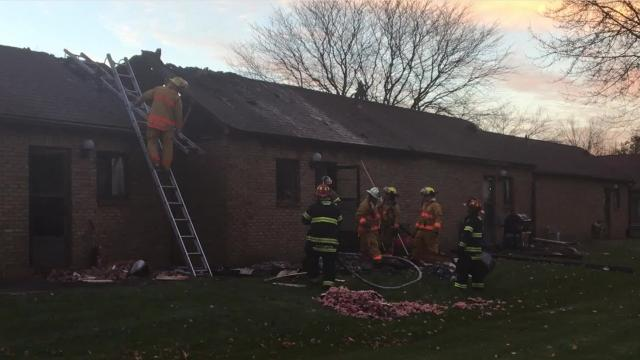 A wall-mounted heater started a fire in an attic of an apartment at Smiley Garden Apartments in Shelby on Tuesday afternoon, the Shelby Fire Department chief reported.