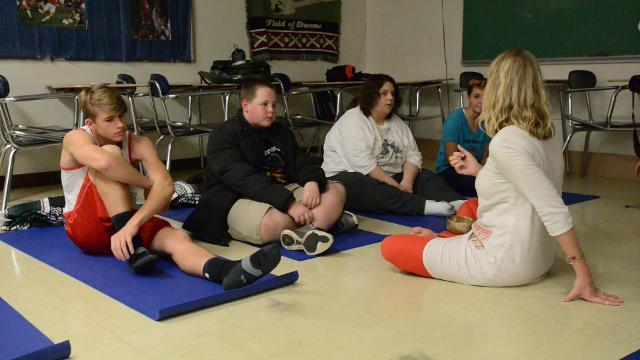 Lancaster H.S. yoga class can serve as detention alternative