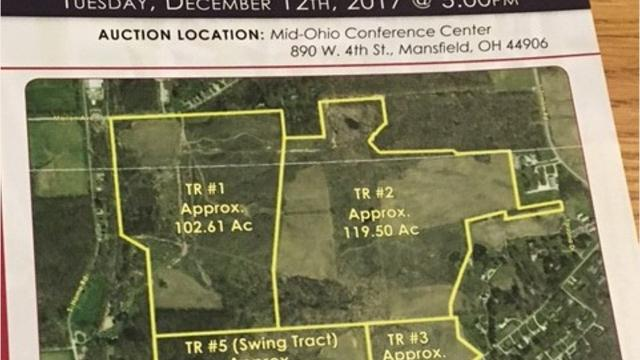 A local farmer bid $675,000 for the entire 343-plus land being auctioned Tuesday between Cook Road and Marion Avenue Road but his bid was not accepted by the seller. Stay tuned for updates.