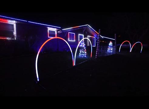 The Slaughter family in Coshocton has a Christmas light display with synchronized music.