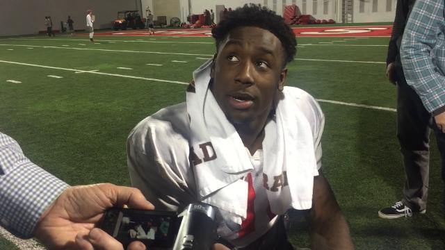 OSU defensive end Jalyn Holmes on playing in Senior Bowl and last game for the Buckeyes