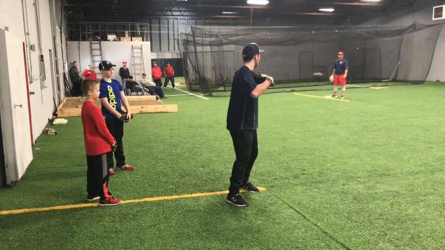 Professional pitchers Robby and Danny Sexton and college pitcher Chandler Day were instructors Saturday during a camp at Fearless In The Zone.