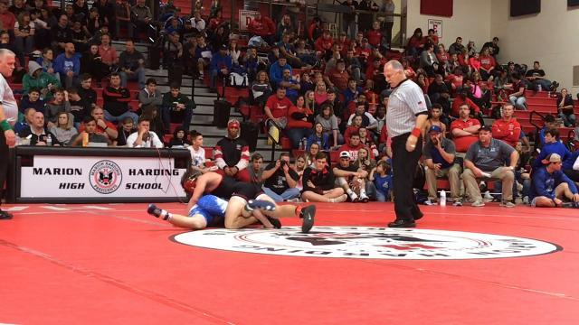 Pleasant's Carter Wolf wins the 47th Harding Classic at 120 pounds