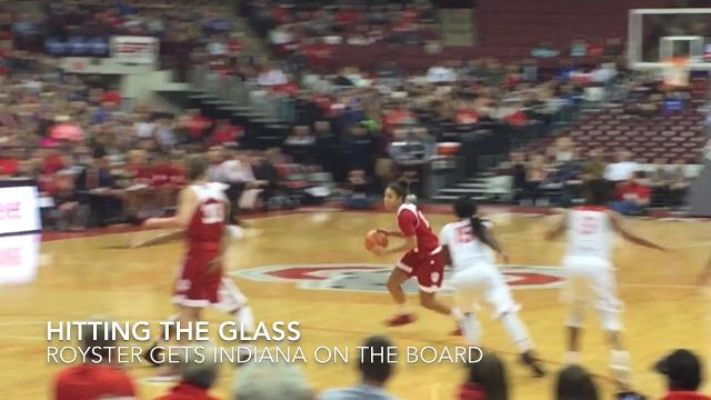 Indiana University junior Kym Royster from Newark scored a career-high 22 points in an 85-70 loss at Ohio State.