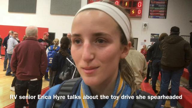River Valley senior girls basketball player Erica Hyre helped organize a toy drive to benefit patients at Nationwide Children's Hospital in Columbus before the holidays.