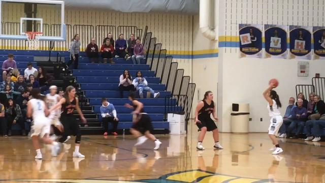 River Valley knocked off North Union 53-51 thanks to a buzzer-beating half-court shot from Alexis Stevens, but the Wildcats stormed back from a 12-point fourth-quarter deficit to force that final basket.
