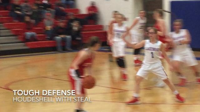 Visiting Utica used a game-ending 15-0 run to rally past Lakewood 48-38 in an LCL girls crossover game.