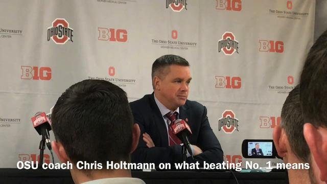 Ohio State coach Chris Holtmann and players Jae'Sean Tate and Keita Bates-Diop talk about beating top-ranked Michigan State 80-64 Sunday evening in the Schottenstein Center.