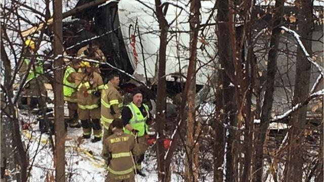 The driver of a semi tractor trailer was pronounced dead at 1:16 p.m. Monday along Interstate 71 near the Ohio 13 exit. The Mansfield post of the Ohio Highway Patrol is handling the crash.