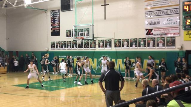 Heath Jeffries' basket with 17 seconds left gave Newark Catholic a 69-66 victory against Northridge.