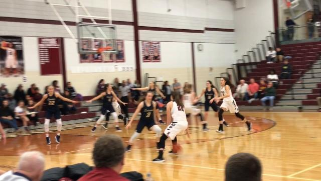 Newark shook off a slow start and buried nine 3-pointers in a 56-24 victory against Lancaster.