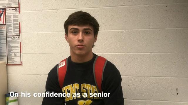 Carter Wolf, a senior wrestler at Pleasant, was named Fahey Bank Athlete of the Month for the second time in his career, winning the award for December.
