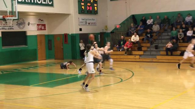 Shannon Keck had 10 points, seven rebounds and four blocks in Newark Catholic's 34-27 victory against Johnstown