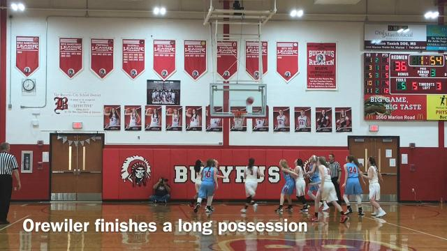 Bucyrus handled Ridgedale 58-27 in a Northern 10 Athletic Conference girls basketball game Tuesday night in Alex Kish Memorial Gymnasium.