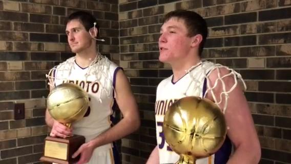 Unioto seniors Peyton Hill and Gabe Fisher have helped their class go 56-0 in Scioto Valley Conference play.