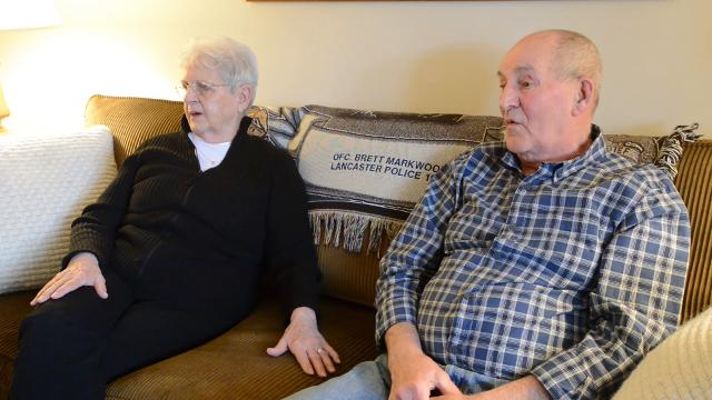 Lancaster Police Officer Brett Markwood's parents talk about their memories from the day of his funeral in 1993. Markwood was shot and killed while responding to a robbery call Feb 21, 1993, on Lincoln Avenue in Lancaster.