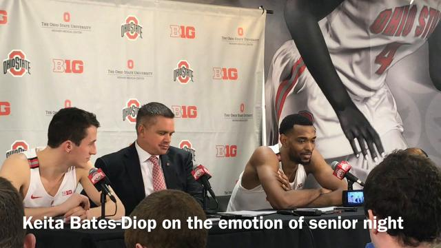 Ohio State's Andrew Dakich and Keita Bates-Diop and coach Chris Holtmann talk about the emotion of senior night and bouncing back after back-to-back losses.