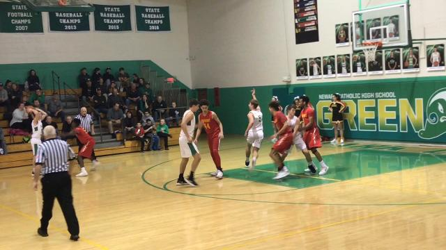 Newark Catholic senior Tate Roesink scored 19 points in a 68-59 loss to Worthington Christian.