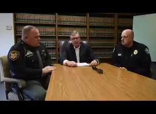The entirety of a press conference regarding charges in school threats, hosted by Muskingum County Prosecutor Michael Haddox, Zanesville Police Chief Tony Coury and Muskingum County Sheriff Matt Lutz.