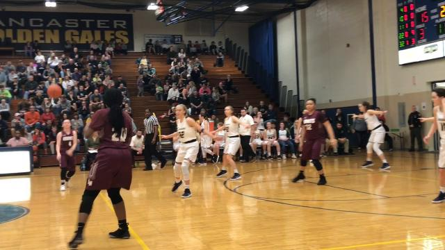 Lancaster overcame a hot start from upset-minded Licking Heights to win 38-36 and advance to the program's first district semifinal since 2005.