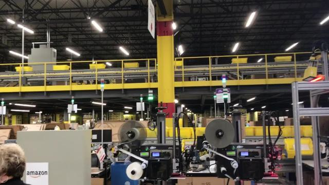 The Amazon center in Etna Township employs 4,000.