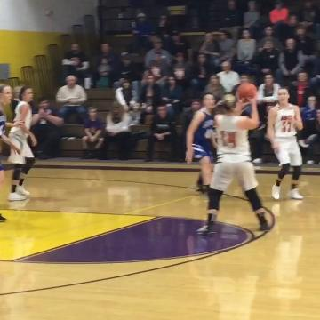 Amanda-Clearcreek's Alyssa Evans scored 20 points in the Aces' 34-30 Division III regional Semifinal loss.
