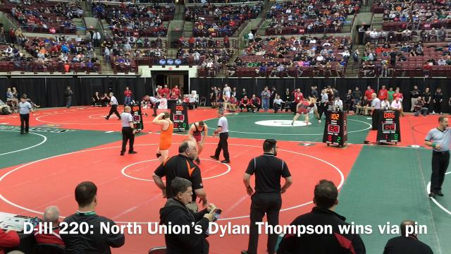 Marion-area wrestlers competed in the first day of the state championships Thursday at Ohio State's Schottenstein Center.