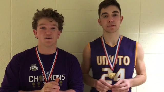 Chance Smith and Cade McKee talk about the Shermans' 53-48 win over Waverly Friday night in a Division II district final.
