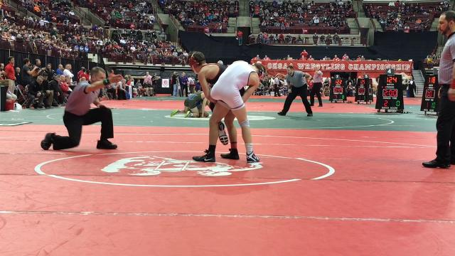 Pleasant senior Carter Wolf won his fifth-place match with Brian Palmer of Buckeye Local 5-2 to become a two-time state placer in Division III's 120-pound class Saturday at Ohio State's Schottenstein Center..