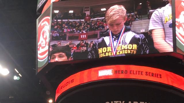 Northmor siblings Conan and Conor Becker receive their state wrestling medals