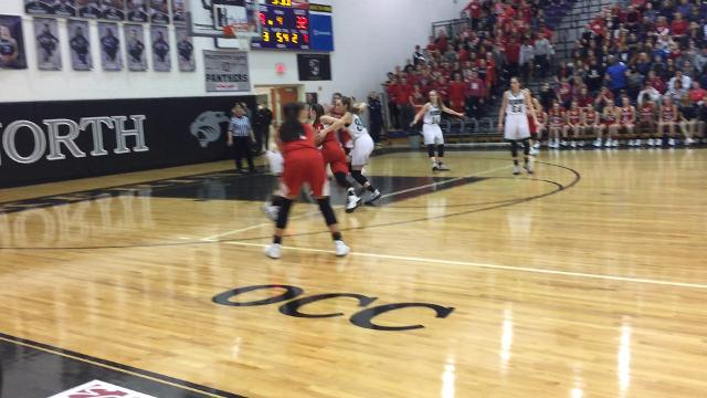 Fairfield Christian's Hope Custer with a nice take to the basket during the Division IV regional final.